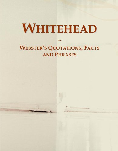 Whitehead: Webster's Quotations, Facts and Phrases