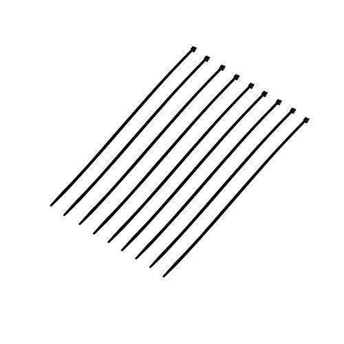 Poly Pool PP0310.1 N° 100 Fascette Per Cablaggi All'Interno Di Apparecchiature Elettriche 3,5 mm x 200 MM Diametro Di Serraggio 2 ÷ 50 MM Nero