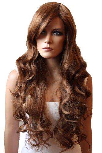 PRETTYSHOP voluminöse Perücke Wig gewellt langhaar aus hitzbeständiger Kunstfaser Cosplay Theater Show diverse Farben (dunkelblond 27/30 FP712)