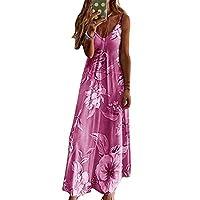Artwarm Womens Maxi Dresses Summer Beach Party Maxi Dress Strappy Holiday Floral Long Boho Kaftan Dress