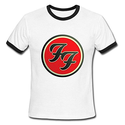 Boy mens foo fighters logo short sleeve tshirt tee