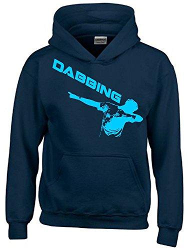 DABBING ! Kinder HOODIE Sweatshirt mit Kapuze navy-sky, Gr.140cm (Sweatshirt Tennis-mädchen)