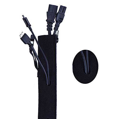 Wuudi 4 stücke Kabelmuffe mit Löchern Neopren Kabelmanagement Sleeves für Computer Schreibtisch Heimkino Entertainment Center Büro Draht Organizer (Computer Center, Schreibtisch)