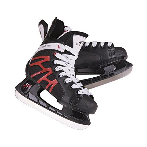 SPOKEY® DRAKE Eishockeyschlittschuhe | Schlittschuhe | 39-47 | Eishockeykufen Edelstahl | Ergomisch | Verstärkte Kappe
