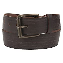 Aditi Wasan Genuine Leather Rugged Brown Mens Belt