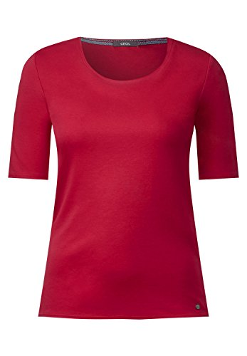 CECIL Damen Organic Halbarmshirt Lena salsa red XL (Salsa-t-shirt)