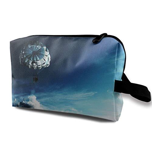 Reise-Kosmetiktaschen Fallschirmspringen Spiel Travel Portable Makeup Bag Zipper Wallet Hangbag