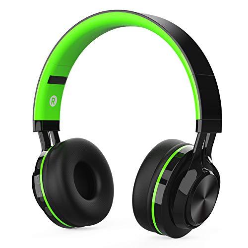 Casque Bluetooth sans Fil avec Réduction du Bruit, MeihuaTu Pliable Audio Sport Casque avec Microphone intégré stéréo Hi-FI...