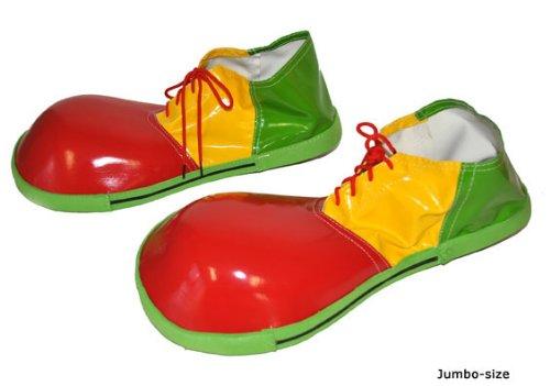 Vinyl Jumbo Zirkus Clown Verkleidung Maßnahme (Vinyl Clown Schuhe)