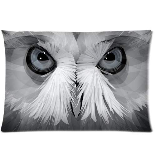 fujianshen Creative Owl Abstract Painting Custom Zippered Pillow Cases Soft and Confortable 20