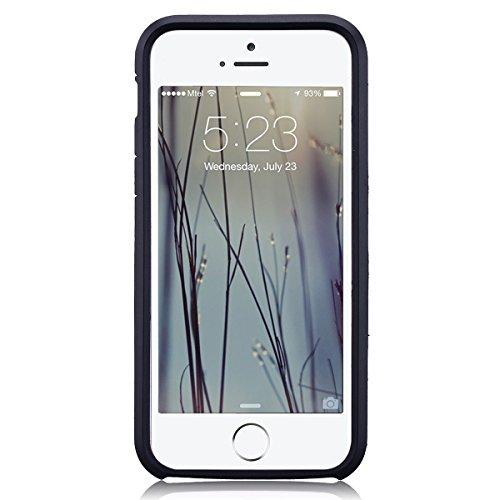 Coque iPhone 6 / iPhone 6S (4.7 pouces), HB-Int 3 en 1 Housse Etui [Tough Armor] Ultra Fine Arrière Housse TPU Silicone Case Cover avec [Protection Extreme] Rugged Slim Dual Layer Protective PC Housse Gris