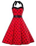 GRACE KARIN petticoat kleid 50er jahre swing kleid rockabilly vintage kleid damen kleid S CL496-4