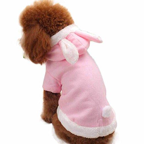 Niedlichen rosa Bunny Kaninchen Ostern Halloween Katze Hund Kostüm Outfit Jumper Kostüm