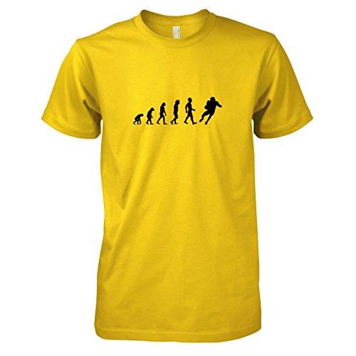 TEXLAB - Football Evolution - Herren T-Shirt, Größe XXL, gelb