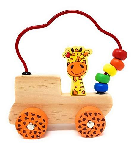 (Geschicklichkeitsspiel Holz Spielzeug Motorikschleife Farbenfrohe Pädagogisches Spielzeug Motorik-Schleife)