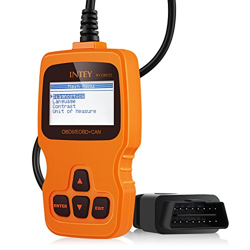 INTEY OBDII Car Vehicle Fault Code Reader Auto Diagnostic Scan Tool, Read and Clear Error Codes for 2000 or later US, European and Asian OBD2 Protocol Vehicle