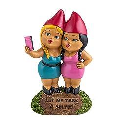 Bigmouth Inc Selfie Schwestern Gartenzwerg