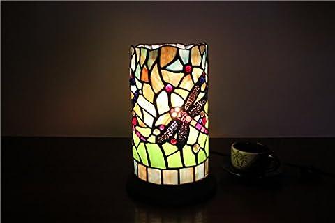 MEHE HOME-5-Zoll-Libelle kreative handgemachte Glas Leuchter Lampe Tiffany-Lampe Schreibtischlampe Pen Hotel Bar-Nachtlicht