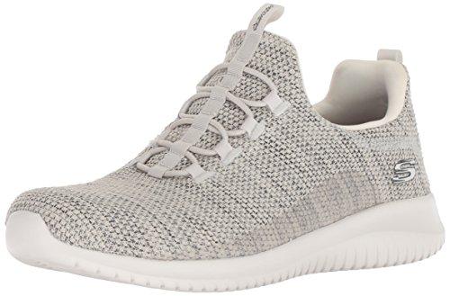 Skechers scarpe casual da donna in tessuto col. naturale fondo gomma extra-leggera, num. 39