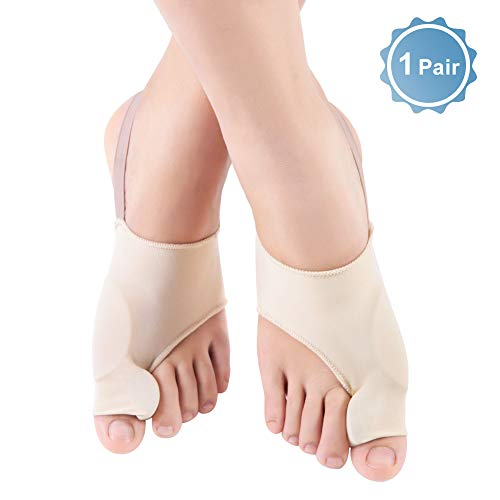 Tutore alluce valgo e separatore dita piede con cinturino, ortesi silicone gel notturno correttore protettore di cipolla, per sollievo dolore in alluce valgo, dita a martello, cura dei piedi avanzato l