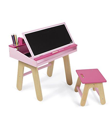 Janod J09618 - Schreibtisch Kombination Holz, rose/pink