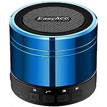 EasyAcc Mini Portable Bluetooth 4.0 Lautsprecher((3,5 mm Audio, Mikrofon, FM Radio, Micro SD Karte Slot), Blau