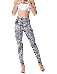 Pantalones Ajustados para Mujeres, Pantalones Deportivos de Estampado geométrico, Pantalones Deportivos de Leggings, Pantalones de Yoga elásticos de Alta Resistencia