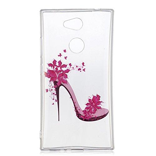 Hülle für Sony Xperia L2 (5,5 Zoll), Anlike Malerei Muster Case Cover Tasche Schutz Etui Schutzhülle für Sony Xperia L2 (5,5 Zoll) - High Heels