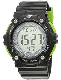 Sonata Fibre (SF) Digital Black Dial Men's Watch -77042PP05