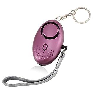 AUCOS Mini Minder Key Ring Persönliche Schlüsselalarm Angriff Rape Alarm 140dB mit Fackel 1 Pcs