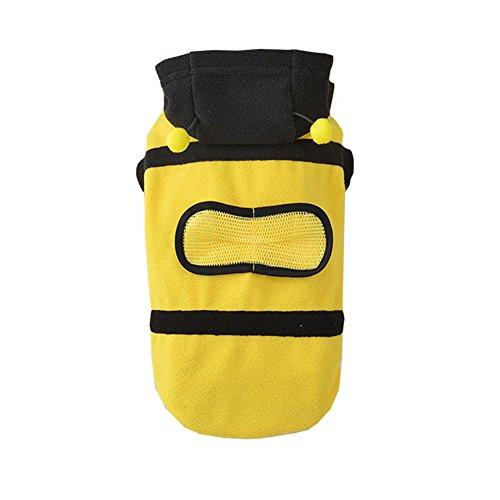 Unbekannt Star Eleven Lustige Hundekleidung, unbesiegbar, super süße Tierkleidung, gedrehte Bienen-Ausrüstung, Teddy VIP Unbekannte Star