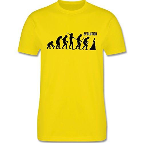 Evolution - Braut Evolution - Herren Premium T-Shirt Lemon Gelb