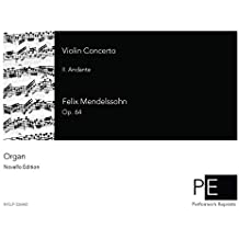 Violin Concerto - II. Andante For Organ