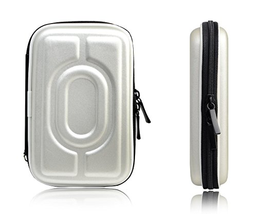 M Mod Con Designer External Hard Drive Case Bag Pouch Cover for 2.5-Inch PNY 120 GB Wired External Solid State Drive (Silver)