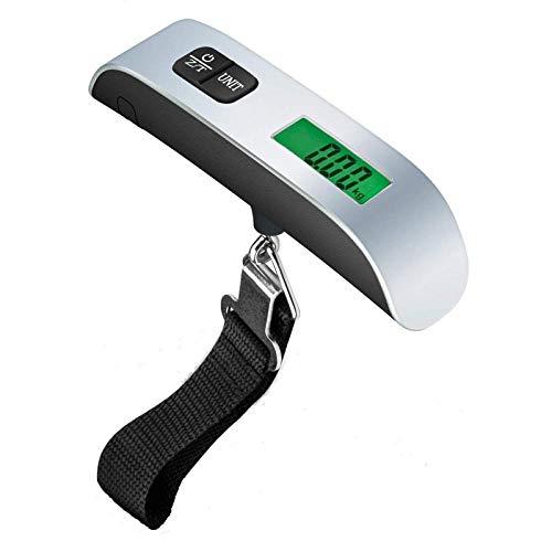 Cucsaist 50 Kg Tragbare Mini-Kofferwaage Für Handgepäck Taschen Reise-Hängewaagen Waagschale Digitales LCD-Display Waagschale