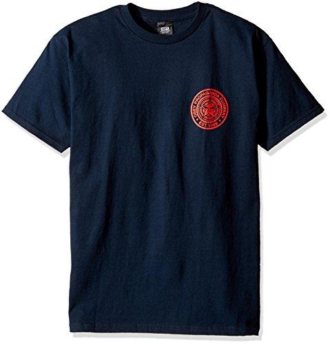 obey-camiseta-hombre-multicolor-azul-marino-y-rojo-xxl-us-talla