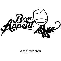 IU Desert Rose Artículos para el hogar Palabras francesas Pegatinas de Pared Copa de Vino calcomanía