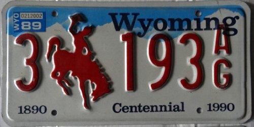 USA Nummernschild WYOMING TRUCK ~ US Kennzeichen License Plate ~ Blechschild