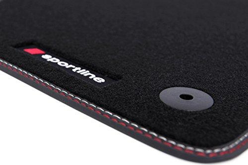 Tuning-Art C450 Auto Fußmatten Sportline-Design Bandeinfassung 2X Ziernähte