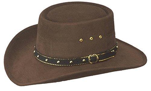 Western Faux Felt Gambler Cowboy Hat