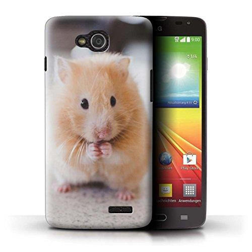 Stuff4® Hülle/Case für LG L90 Dual/D410 / Goldener Hamster Muster/Niedlich Haustiere Kollektion