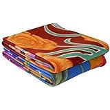 Zacharias Multicolor Printed Single Bed Fleece Blanket Set Of 2
