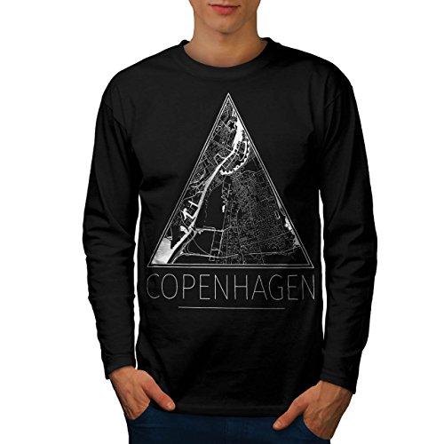 denmark-copenhagen-big-town-map-men-new-black-l-long-sleeve-t-shirt-wellcoda