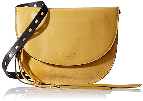 Liebeskind Berlin Damen Dive Bag Suede Clutch Small Gelb (Tawny Yellow), 2.0x21.0x21.0 cm