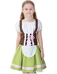 tianxin Disfraz de Oktoberfest para ninos Vestido Tradicional Bavaro Verde  Claro 593e571c8e635
