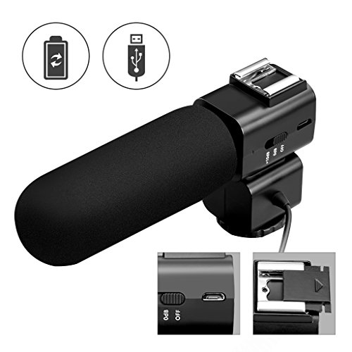 Micrófono para Cámaras, CRAPHY Micrófono Externo para Videocámara