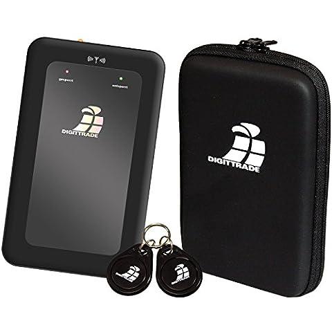 Digittrade RS64 1TB SSD Externe verschlüsselte Festplatte (6,35 cm (2,5 Zoll) USB 2.0) mit RFID-Zugriffskontrolle und Hardware-Verschlüsselung schwarz