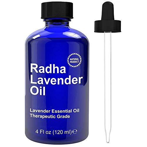 Lavender Essential Oil - Big 4 Oz - 100% Pure & Natural Therapeutic Grade - PREMIUM QUALITY Oil From Bulgaria by Radha Beauty