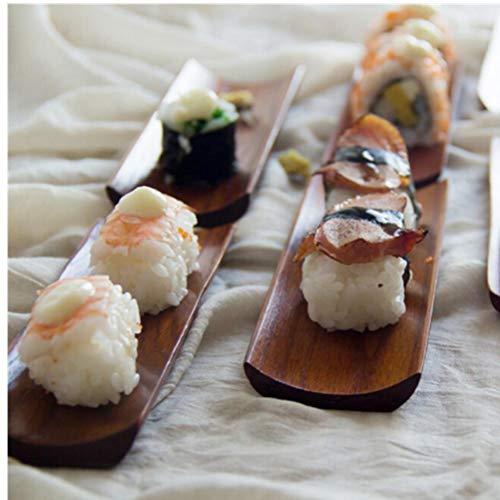 TOSSPER Albóndigas Madera Sushi Bandeja Servir Oblong