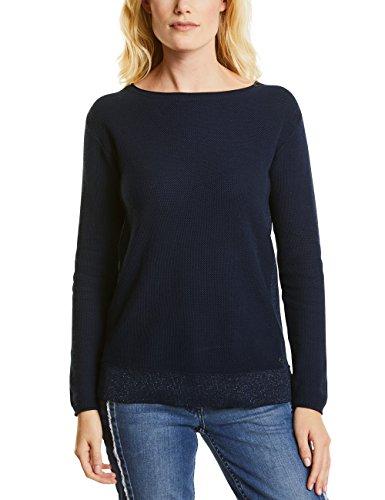 Cecil Damen 300417 Pullover, Blau (Deep Blue 10128), Large -